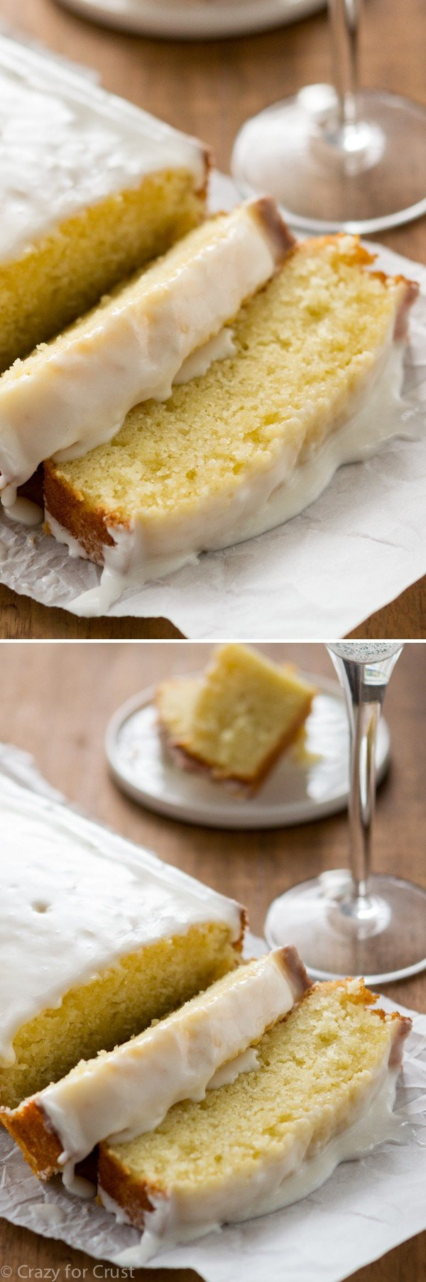 Champagne Pound Cake with triple the champagne flavor! This is the BEST pound cake I've ever eaten.