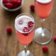 This Champagne Punch Bellini is the perfect drink for Christmas or New Years.