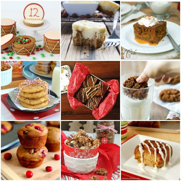 Gingerbread Recipes collage of photos