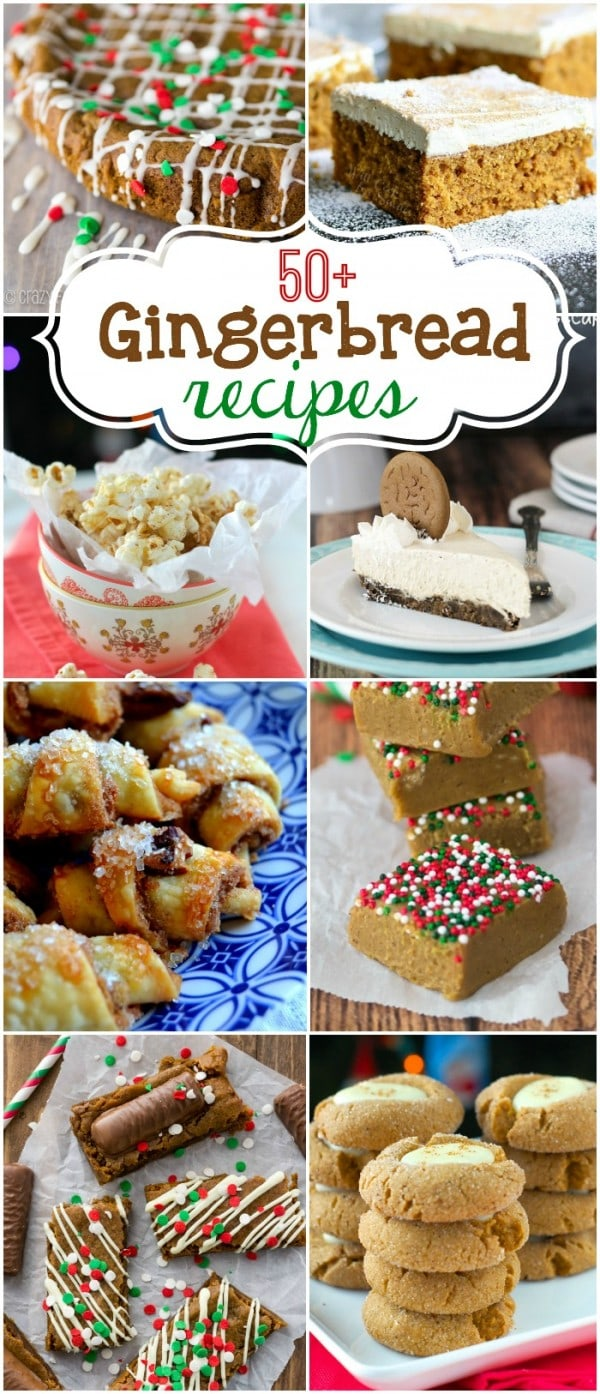 gingerbread recipes collage with ideas
