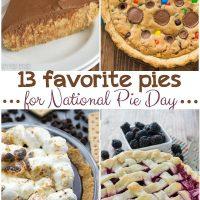 13 favorite pies