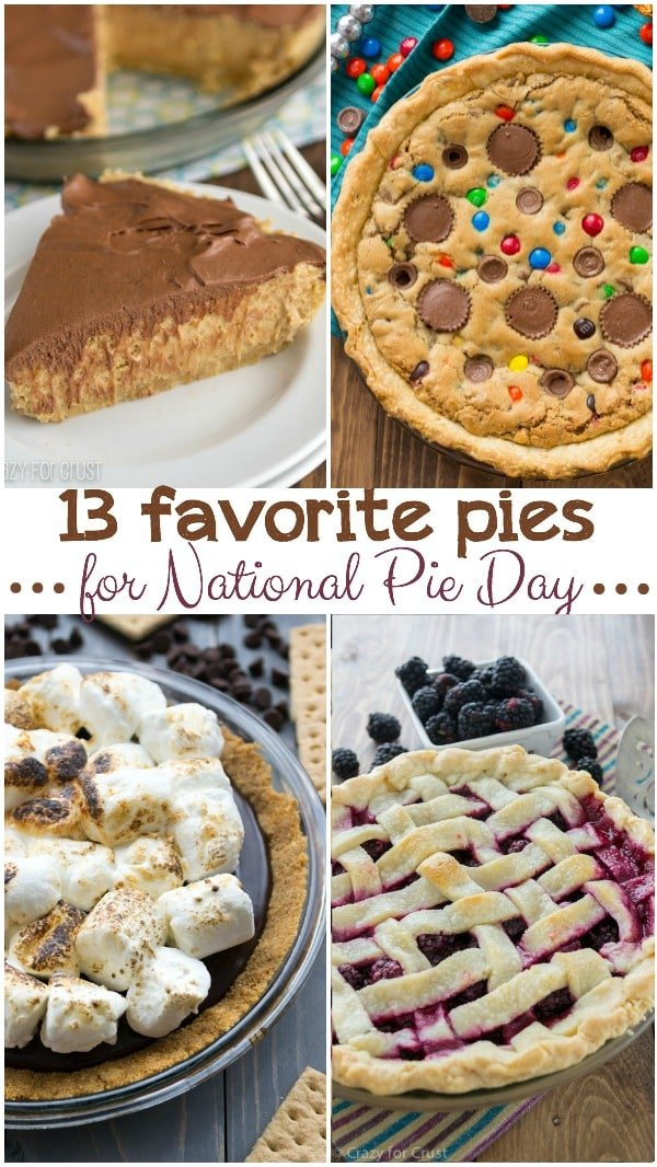 13 Pies for National Pie Day.