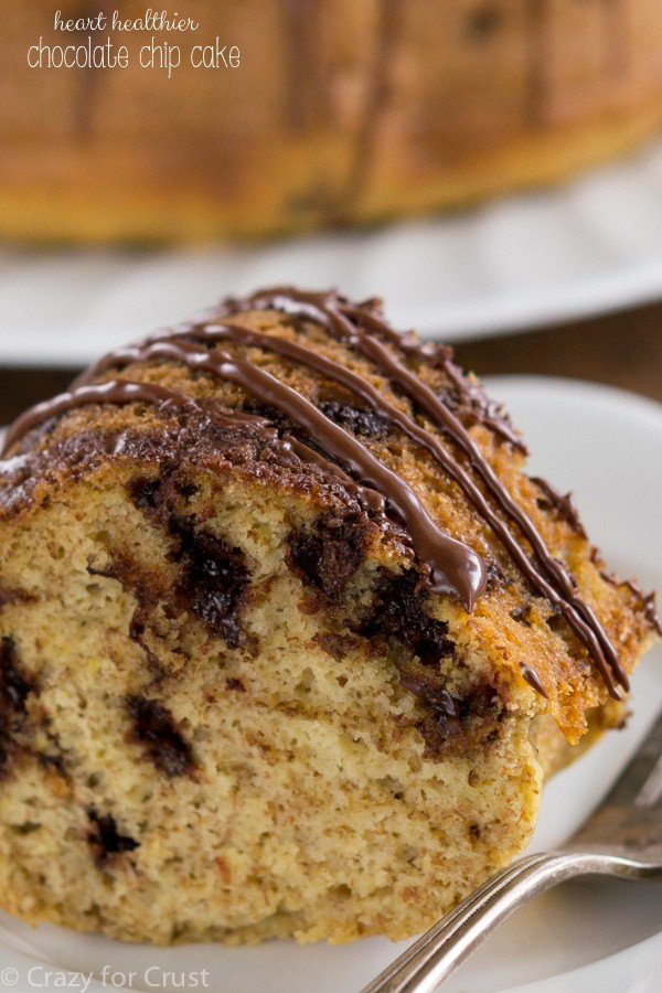 Healthier Chocolate Chip Cake