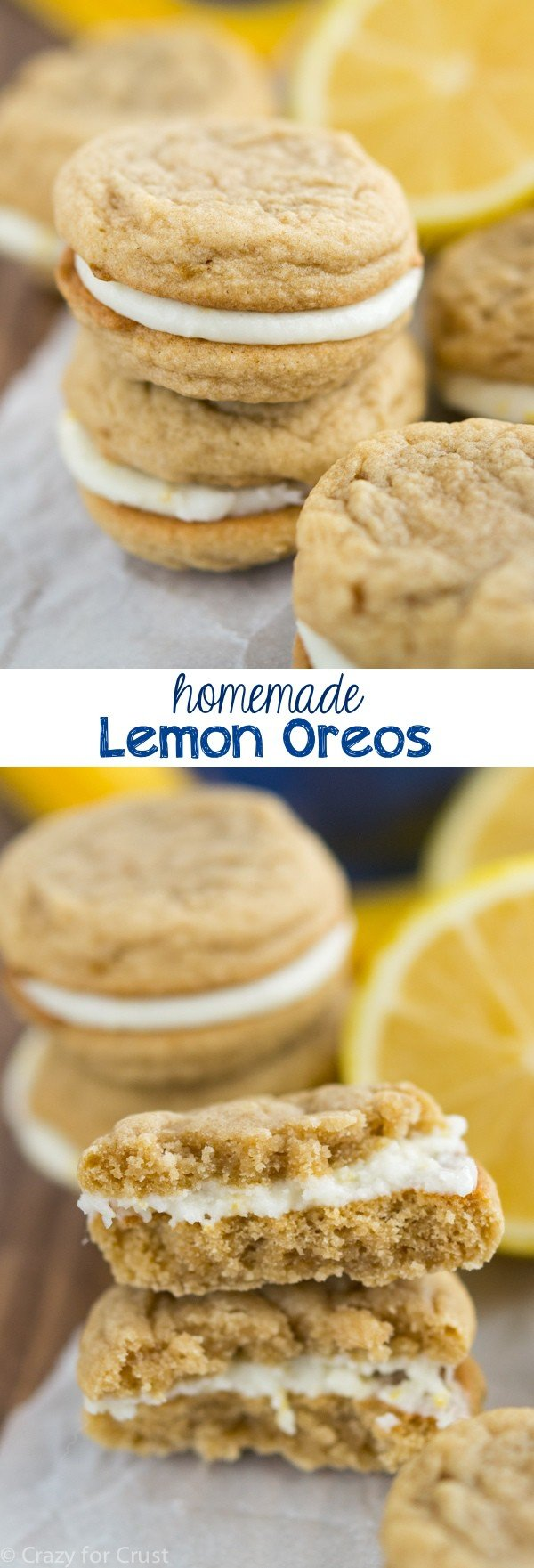 Homemade Lemon Oreos are soft, sweet, tart, and better than real Oreos!