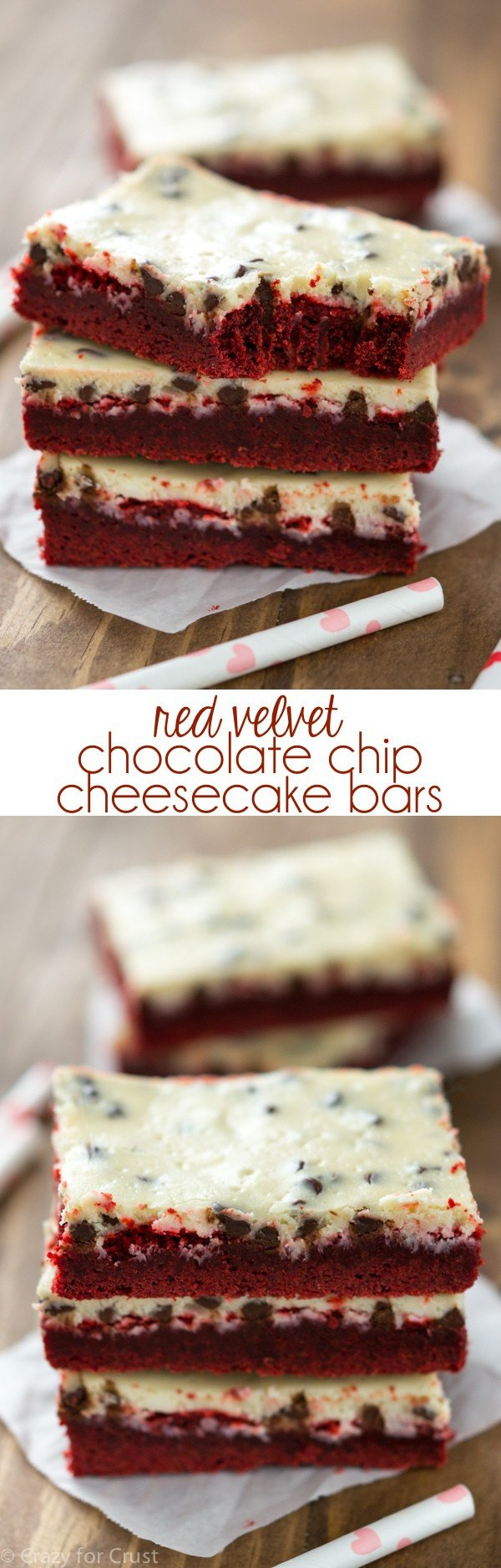 Red Velvet Chocolate Chip Cheesecake Bars