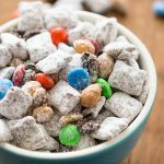 trail mix muddy buddies in bowl
