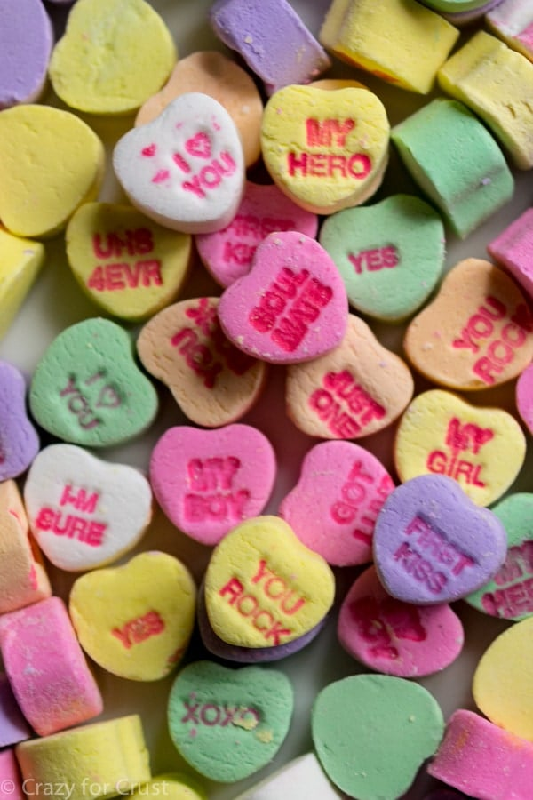 Conversation Hearts for Valentine's Day Bark