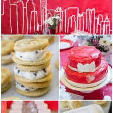 Collage of 2014 Annie Birthday party ideas