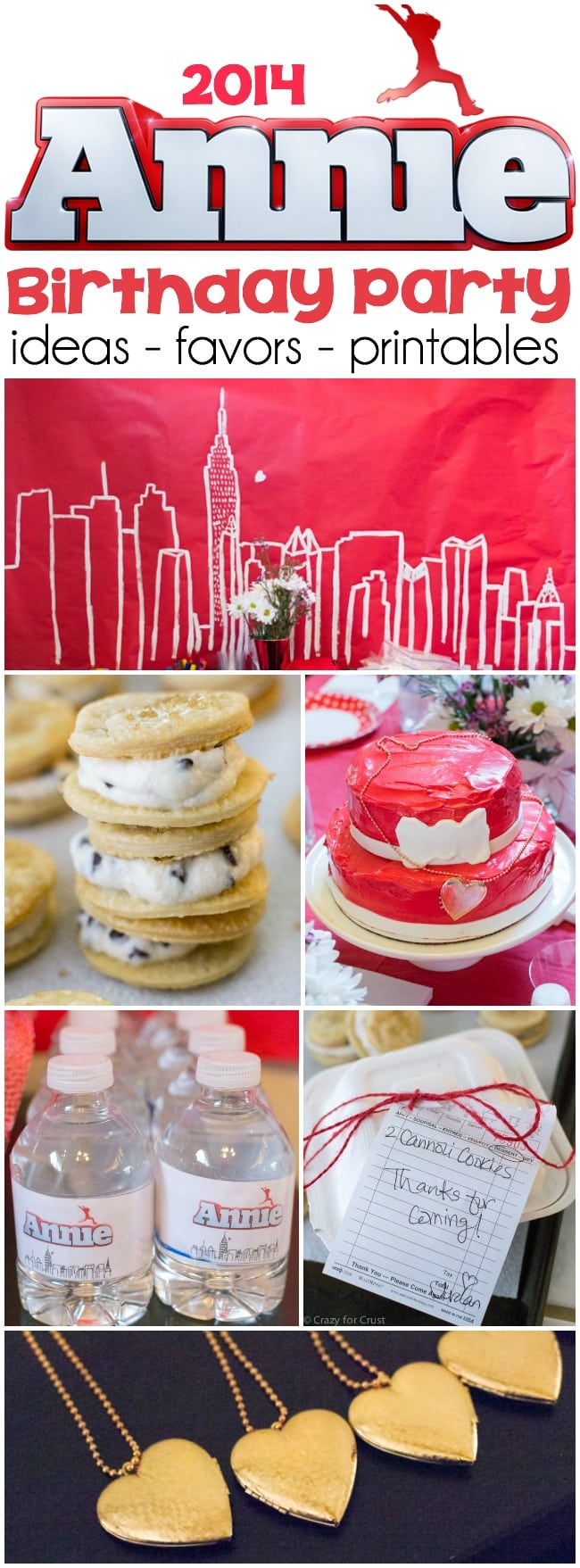2014 Annie Birthday Party ideas and printables