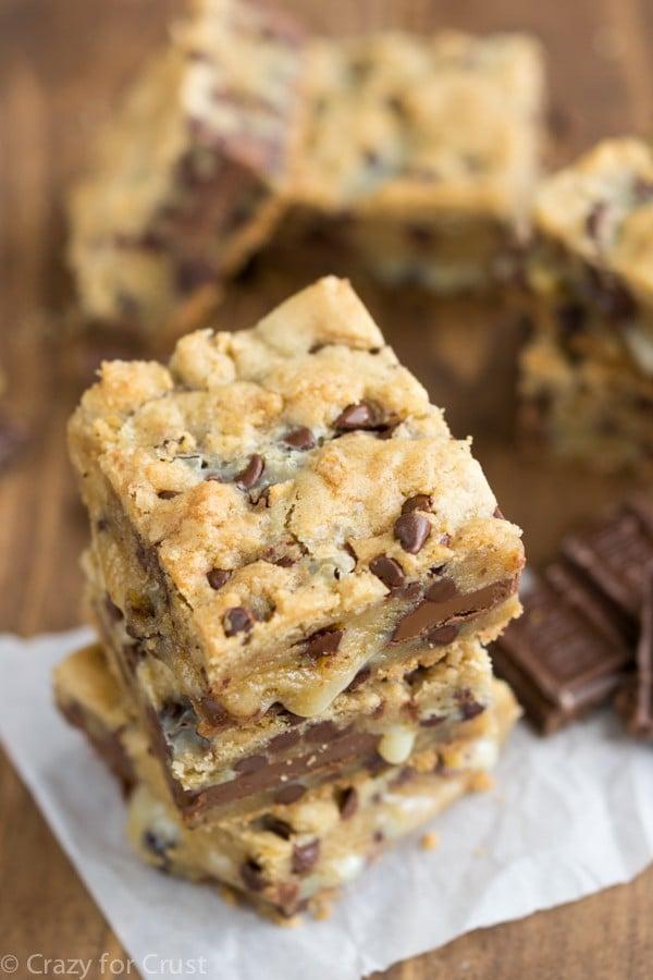 Chocolate Chip Gooey Bars