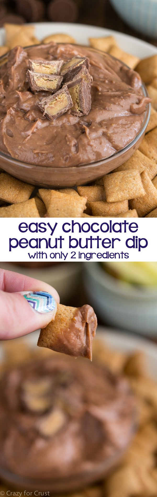 Easy Chocolate Peanut Butter Dip