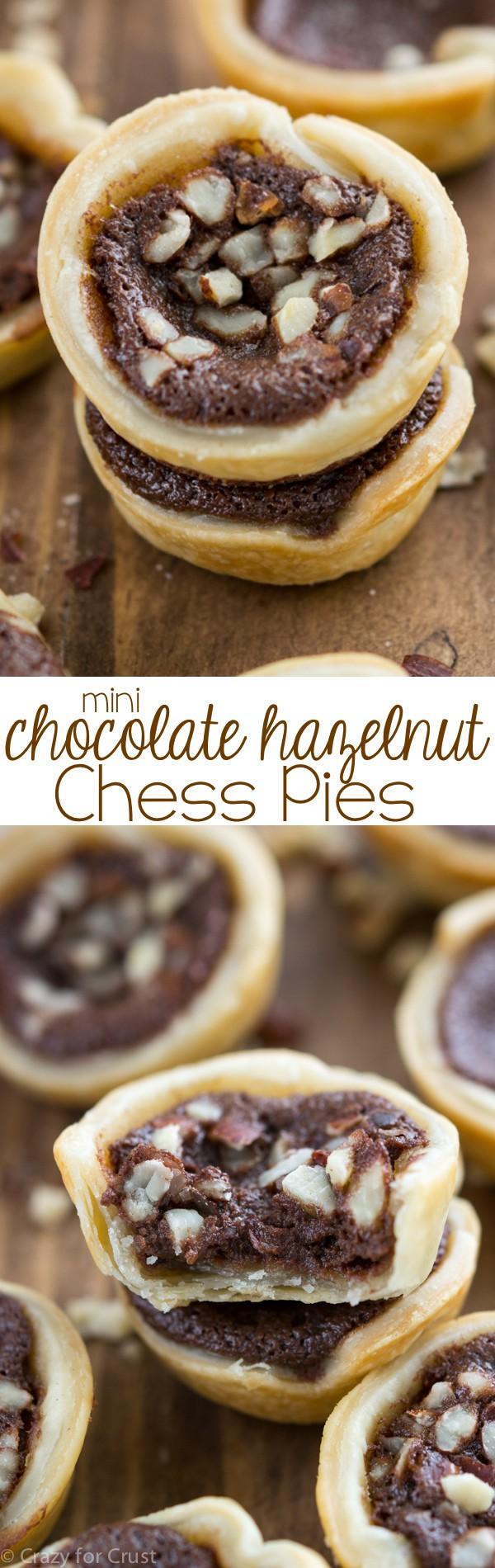 Mini Chocolate Hazelnut Chess Pies