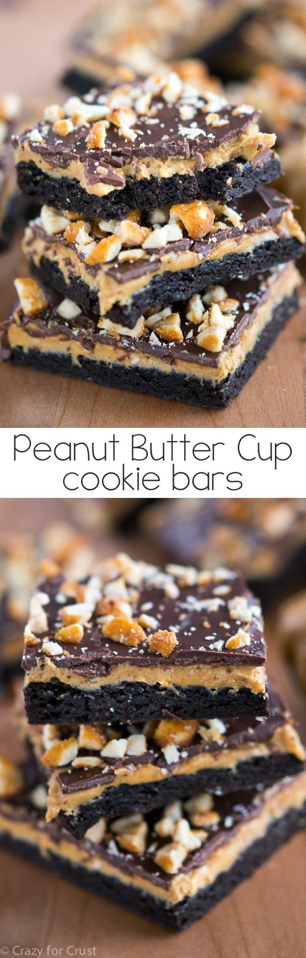 Peanut Butter Cup Cookie Bars are like a peanut butter cup in bar cookie form!