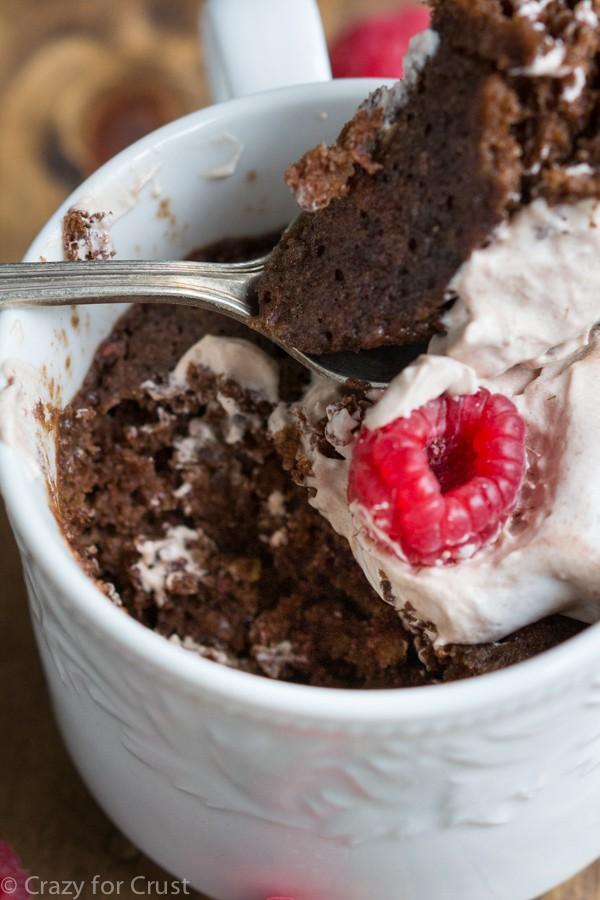 how to make a chocolate cake in a mug
