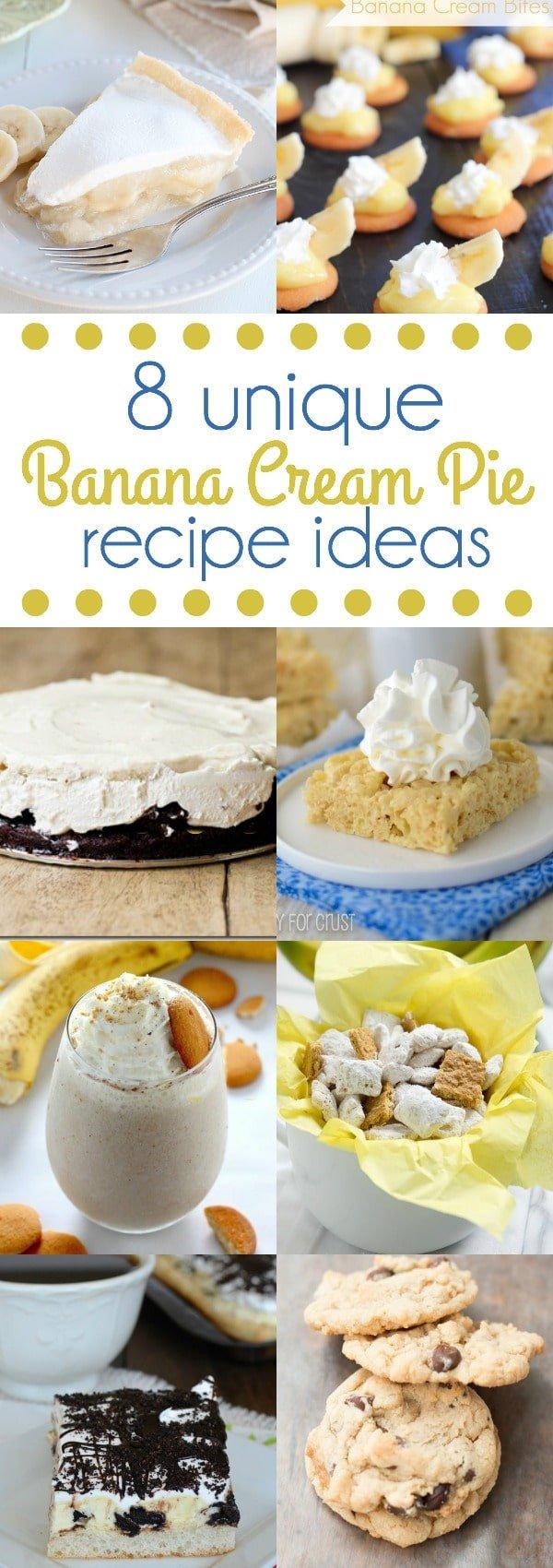 8 unique banana cream pie recipe ideas