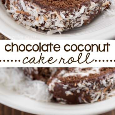 chocolate coconut cake roll collage