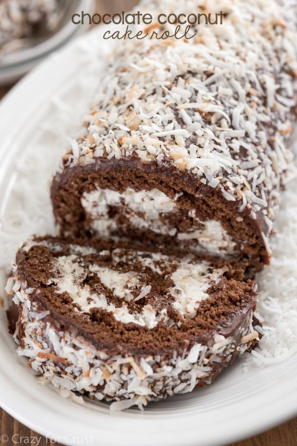 Chocolate Roll Cake Recipe With Whipped Cream Filling