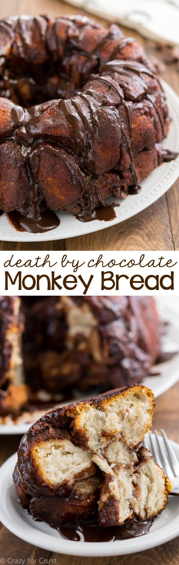 This Chocolate Monkey Bread is the BEST easy brunch recipe! Make it for breakfast or dessert and get your chocolate fill.