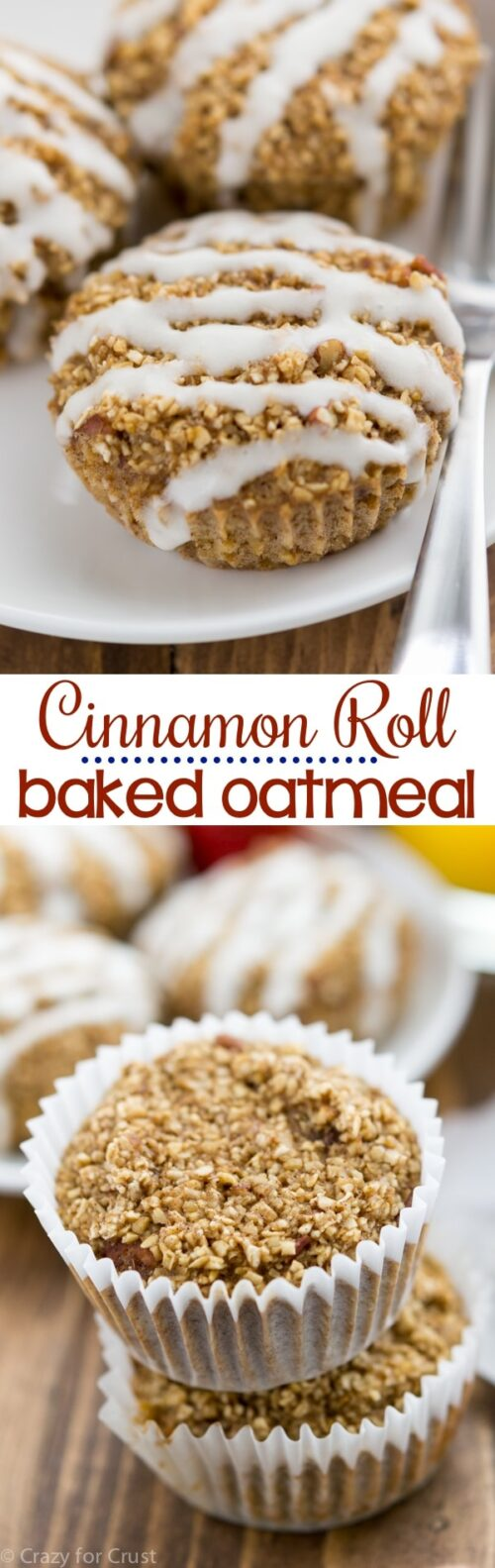 collage baked oatmeal muffins