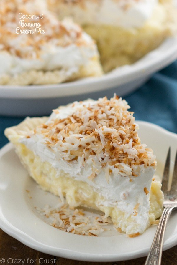 Coconut Banana Cream Pie - Crazy for Crust