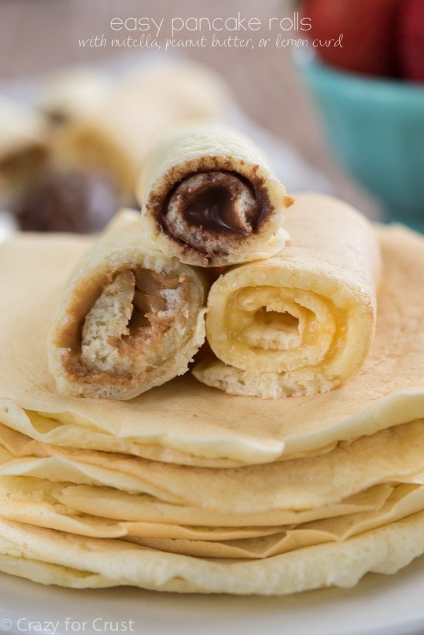 Easy Pancake Rolls, 3 ways
