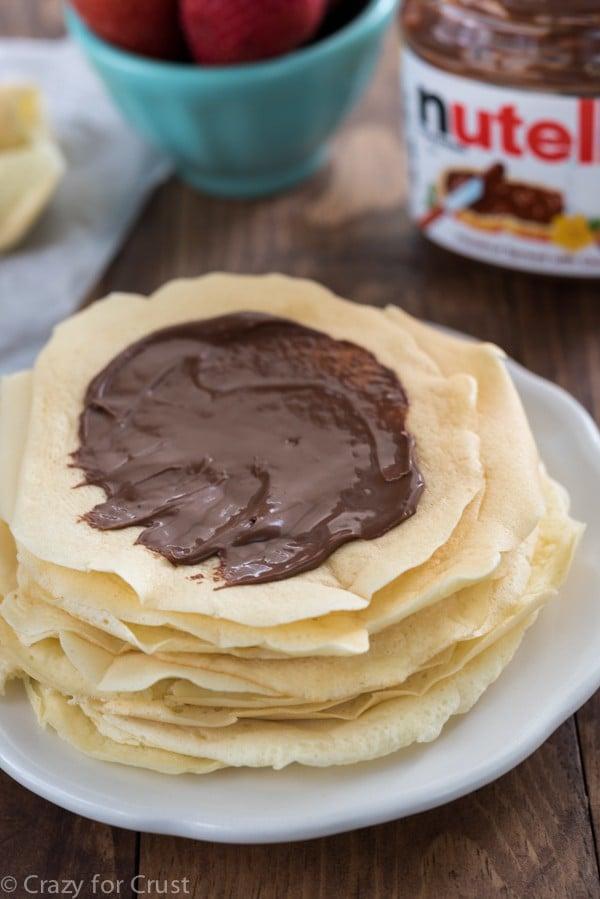 Nutella Pancake Rolls