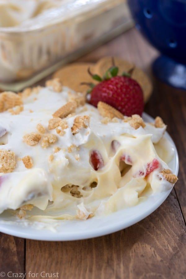 No-Bake Strawberry Shortcake Dessert