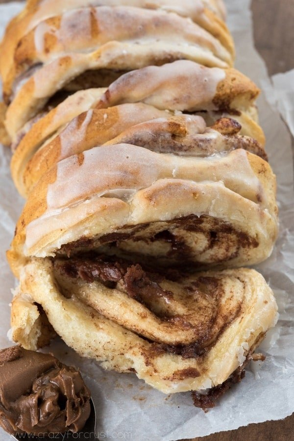 Chocolate Cinnamon Roll Pull Apart Bread 2 Ingredients