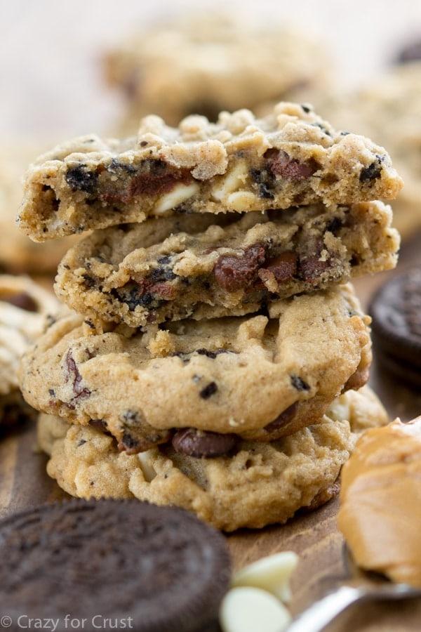 Cookies 'n Cream Peanut Butter Cookies Recipe