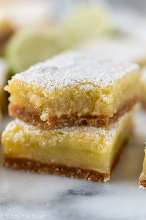 Easy Margarita Bars with a graham cracker crust.