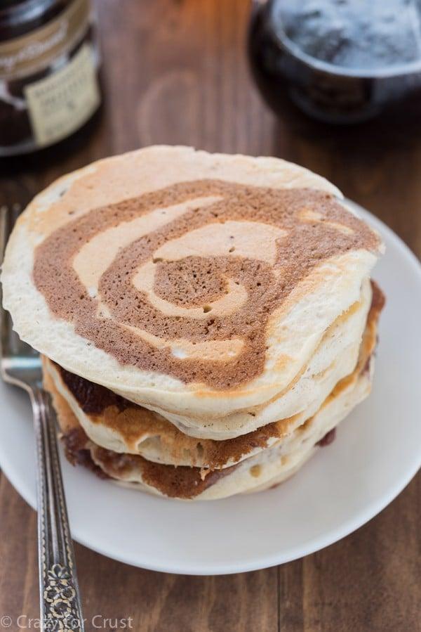 Marionberry Swirl Pancakes