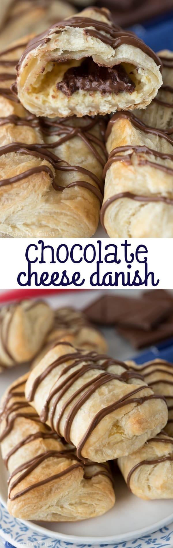 Chocolate Cheese Danish - Crazy for Crust