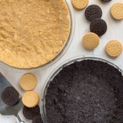 Oreo cookie crustmade fresh, from scratch! This easy homemade Oreo cookie crust will amp up the flavor of your favorite no-bake pie recipes.