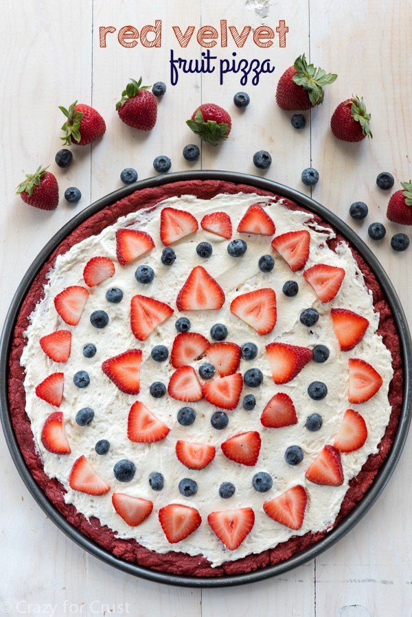Red Velvet Fruit Pizza