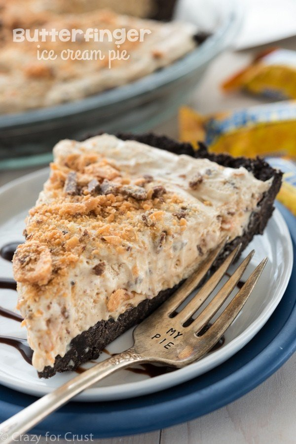 Butterfinger Ice Cream Pie