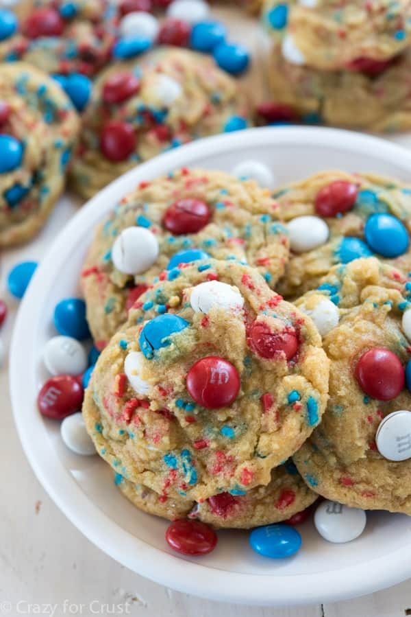 Fireworks Pudding Cookies - Crazy for Crust