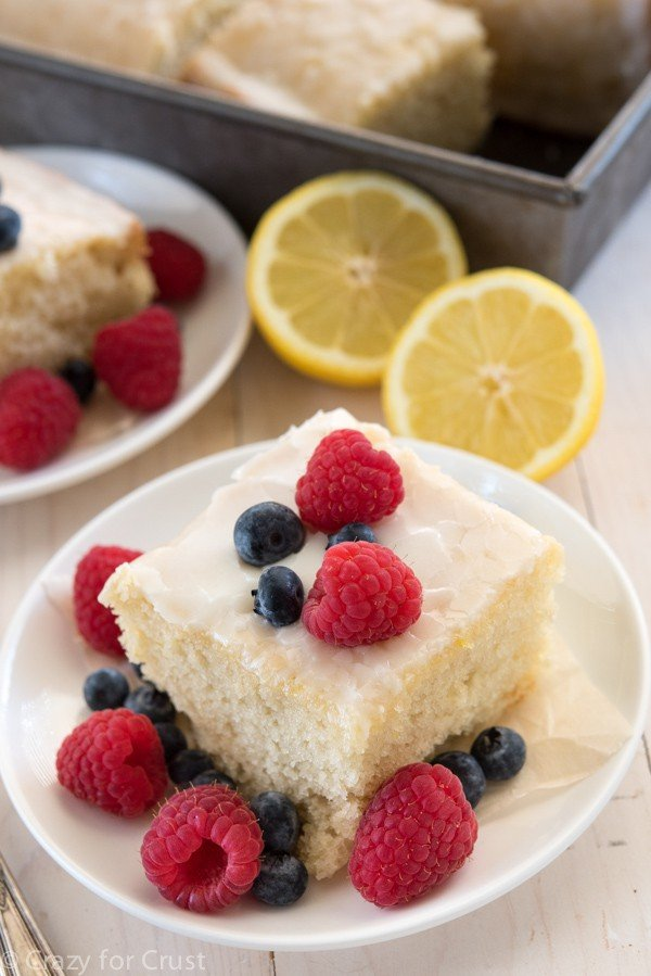 Easy Lemon Snack Cake