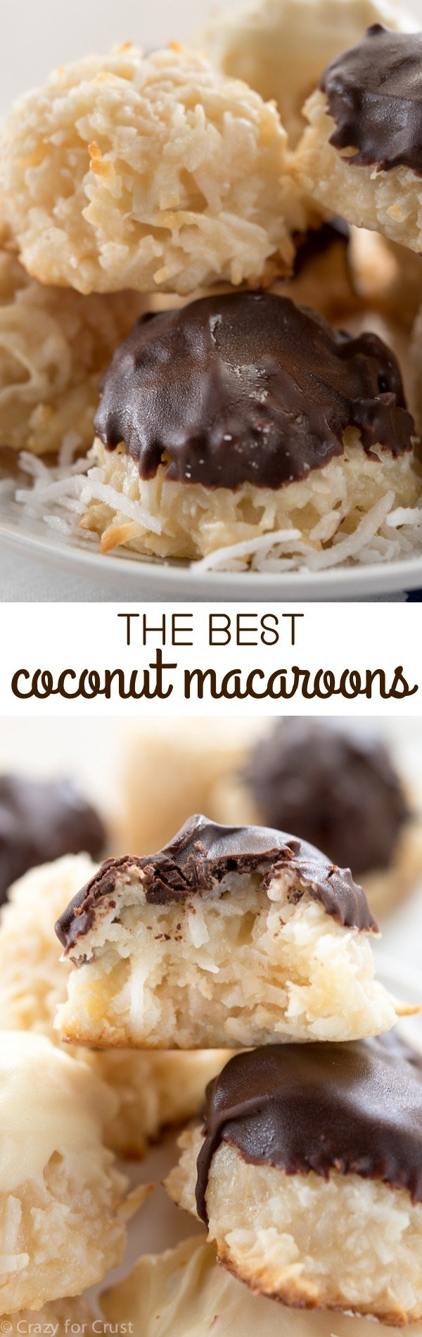 Bakery Style Coconut Macaroons - Crazy for Crust