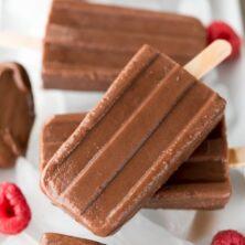stack of 2 ingredient fudge pops