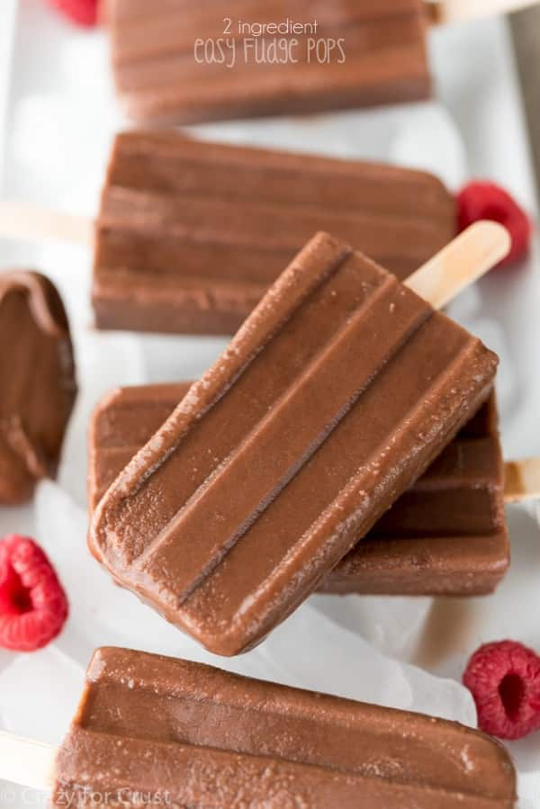 These 2 ingredient Fudge Pops are so EASY and they're the richest and most chocolatey fudgesicles ever!