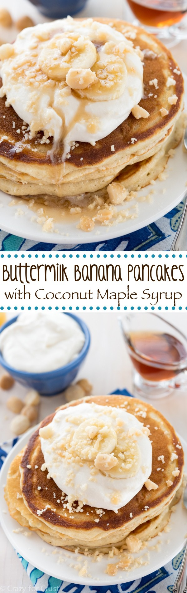 Buttermilk Banana Pancakes with Coconut Maple Syrup ...