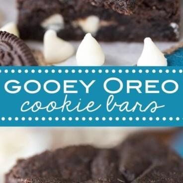 Collage Gooey Oreo Cookie Bars