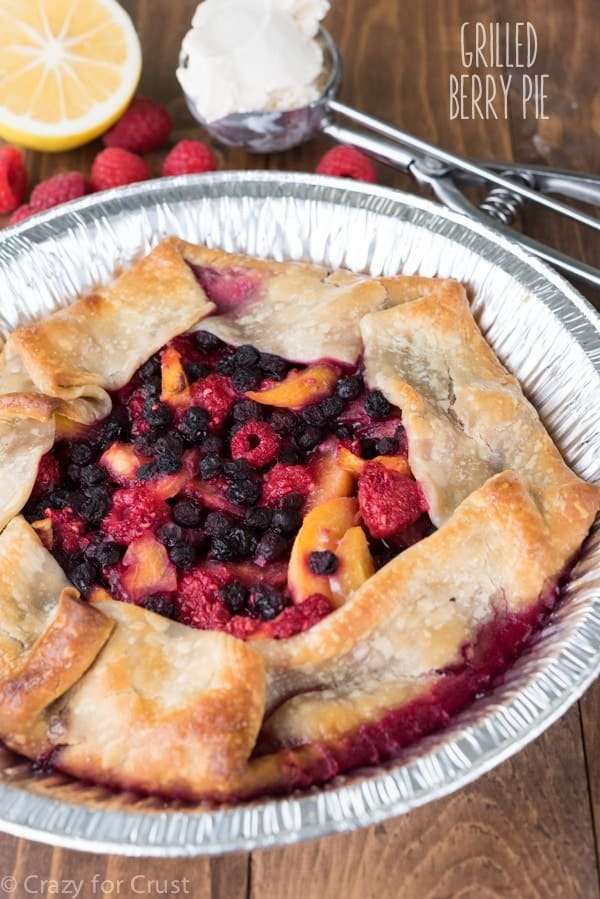 How to Grill Pie {Grilled Berry Peach Pie Recipe}