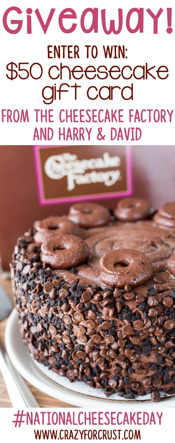 WIN a gift card for The Cheesecake Factory Cheesecakes from Harry & David!