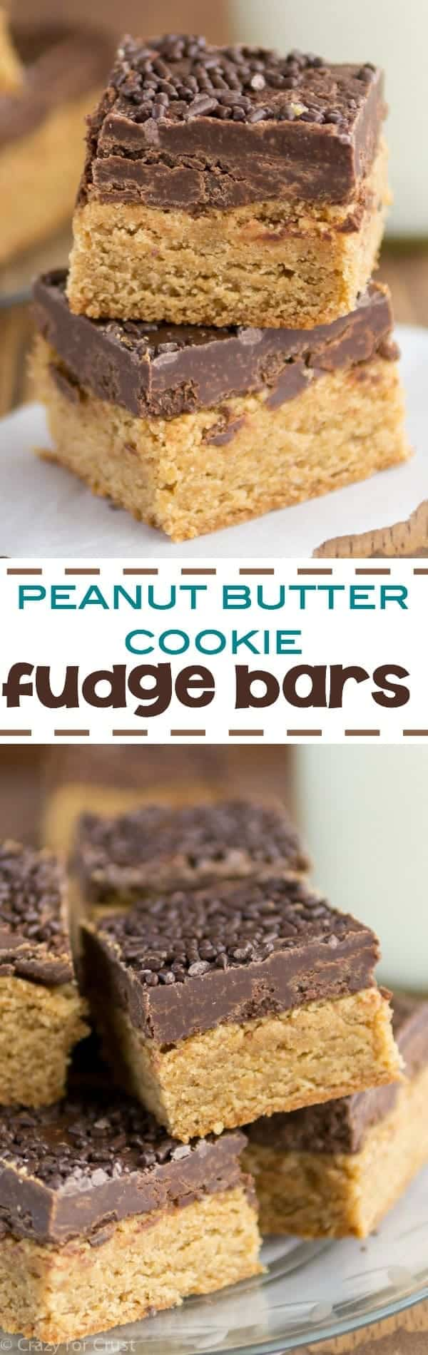 Peanut Butter Cookie Fudge Bars