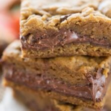 Stack of Pumpkin Nutella Cookie Bars