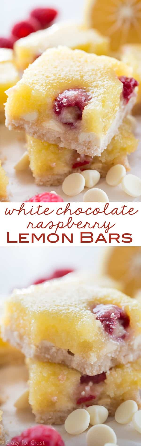 White Chocolate Rasberry Lemon Bars - add flavor to your favorite lemon bar recipe!