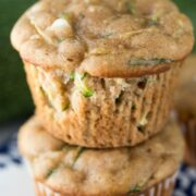 Stack of Zucchini Cream Cheese Muffins