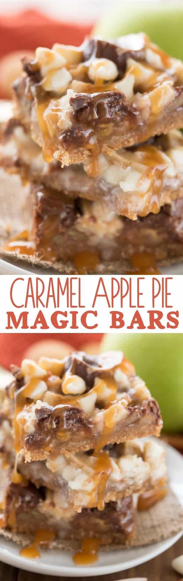 Caramel Apple Pie Magic Bars! An easy recipe for fall full of caramel ...