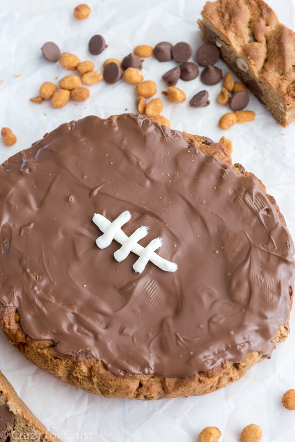 Peanut Butter Football Cookie Cake Recipe